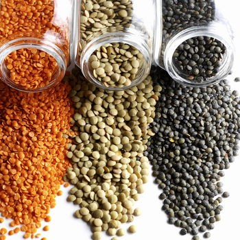 Beans, Lentils and Legumes high in protein
