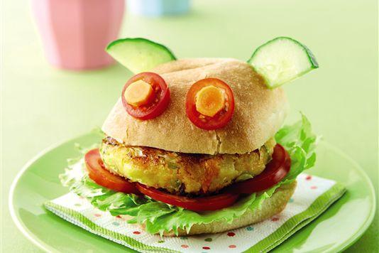 Vegetarian Burger for Kids