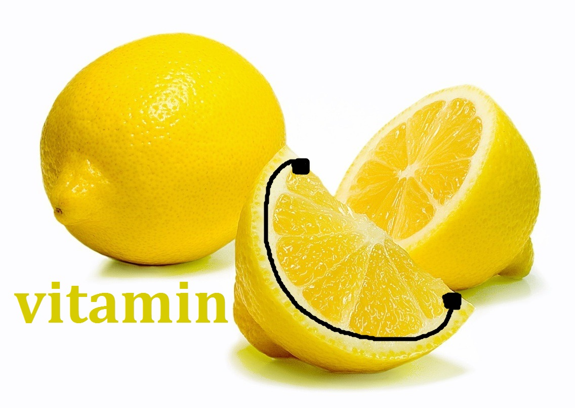 Vitamin c in lemon