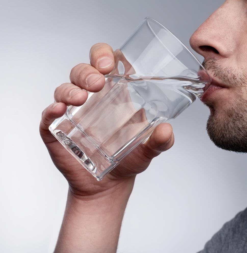 Drinks Lots of Water