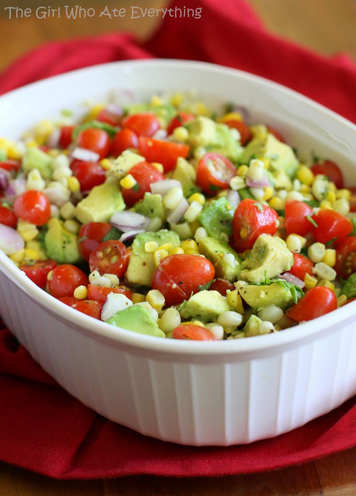 Avocado, Corn, and Tomato Salad