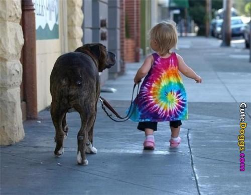Cute-girl-with-huge-dog