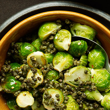 Brussels Sprouts with Fried Capers and Chili