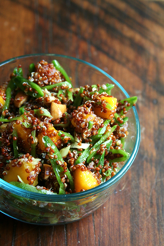 Quinoa Salad with Mango, Lime, and Ginger