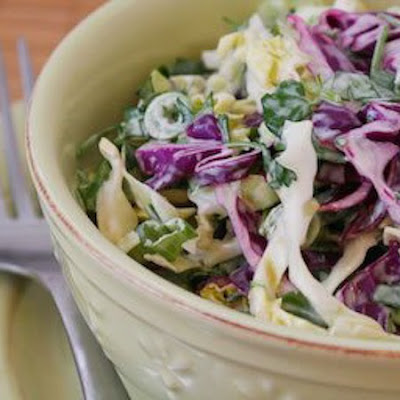 Spicy Mexican Slaw with Lime and Cilantro